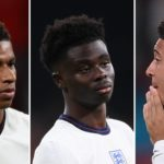 A giant digital mural has been unveiled in Manchester in support of England stars Marcus Rashford, Jadon Sancho, and Bukayo Saka.