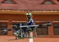 Cambodian students build manned drone